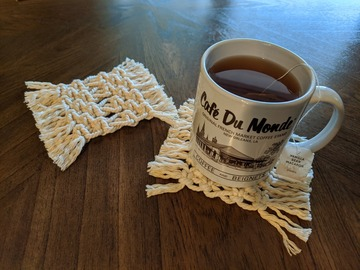 Selling with online payment: Macrame Coasters