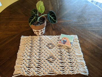 Selling with online payment: Macrame Placemat