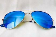 Liquidation/Wholesale Lot: Moni Shades – Baby Blue Lens Aviator Sunglasses With Polarized