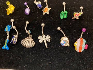 Liquidation/Wholesale Lot: 36 pcs-- Stainless Steel Body Jewelry-- $ .99 pcs!