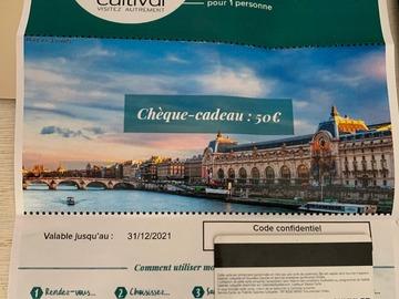 Vente: Chèque Cadeau Cultival (50€)