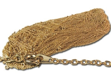 "Liquidation/Wholesale Lot: 60 pcs-- 14kt gold plated Open Link Chain, 18""--  $39.00"