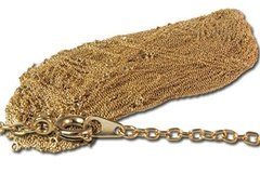 "Liquidation/Wholesale Lot: 60 pcs-- 14kt gold plated Open Link Chain, 18""--  $39.00"