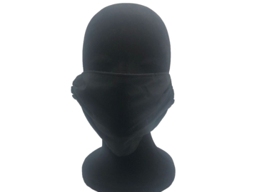 For Sale: Solid Black Cotton Face Mask