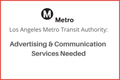 Procurement Listing: Advertising & Communication Services Needed