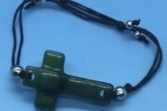 Selling with online payment: Glass Cross Bracelet
