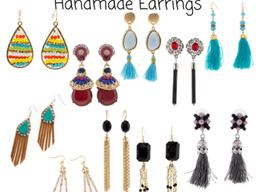 Buy Now: Lot of 480 High quality Handmade Earrings. Only $2 Each pair.