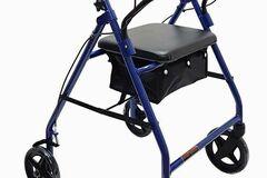 "SALE: Economy Aluminum Rollator with 8"" Wheels Blue"