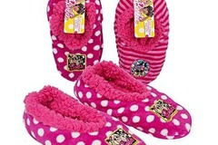 Buy Now: WHOLESALE LOT OF 48  BARBIE GIRLS COZY SLIPPERS-NEW