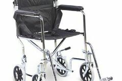 """SALE: AMG Transport Chair With Swing-Away Removable Footrests 17"""" Seat"""