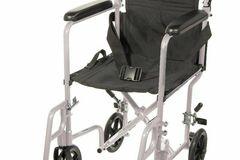 "SALE: Lightweight Transport Wheelchair 19"" Silver | Buy in Toronto"