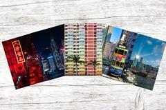 : (Sights of Hong Kong) A Set of 5 Blank Greeting Card