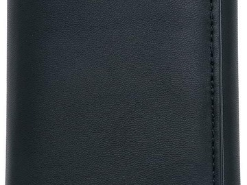 Compra Ahora: 36 Mens Embassy  Black Genuine Leather Tri-fold Wallets-NEW