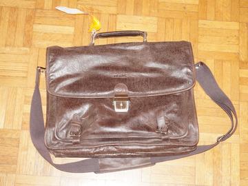 Vente: Sacoche de travail - Cuir marron vintage