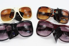 Liquidation/Wholesale Lot: Dozen Womens Designer Inspired Fashion Sunglasses NWT