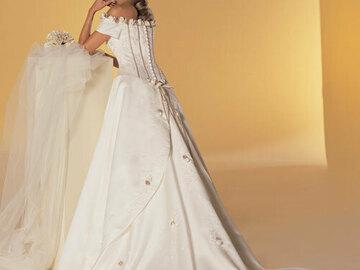 Ilmoitus: Upea A-linjainen prinsessamekko Sincerity Bridal 2952 Ivory/Taupe