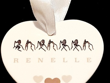 For Sale: Personalised BSL Ceramic Heart