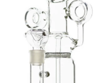 Post Products: Rocket Ship Multi Perc Incycler Glass Clear 14""