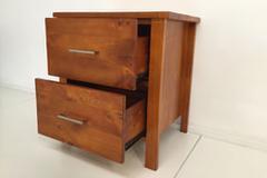 For Sale: TINA Solid Wood 2 Drawer Bedside--HONEY COLOUR