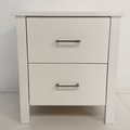 For Sale: TINA Solid Wood 2 Drawer Bedside Table--White Colour