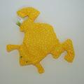 Vente au détail: Bouillotte sèche - grenouille jaune