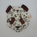 Vente au détail: Bouillotte sèche - panda marron à fleurs