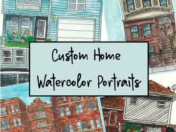 Custom : Custom Home Watercolor Portrait