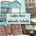 Custom : Custom Home Watercolor Portrait