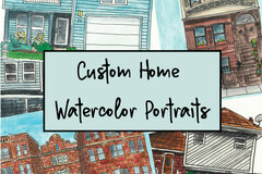 Custom : Custom Home Watercolor Portraits