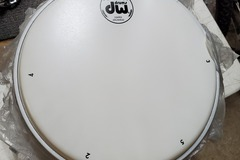 "Selling with online payment: 27 new Drum Workshop DW 10"" coated ambassador heads"