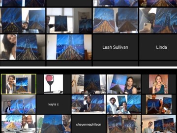 per person: Sip and Paint Virtual Team Building Events