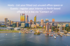 Announcement: REGISTER YOUR INTEREST in Perth Offices - Rent for 1 day