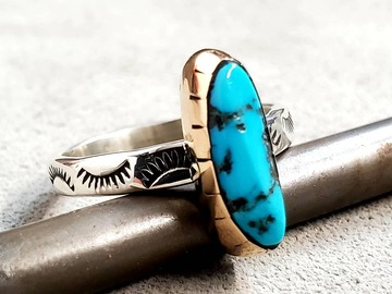 Selling: Natural Sleeping Beauty Turquoise Ring