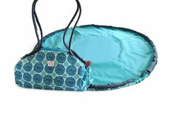 Buy Now: 2 Red Hens Toy Nanny And Play Mat Tote, Turquoise Peacock Mum
