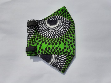 For Sale: Green & White Origami Mask
