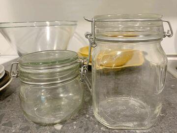 Myydään: Double Glass Jars