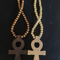 For Sale: Wooden Ankh Necklaces
