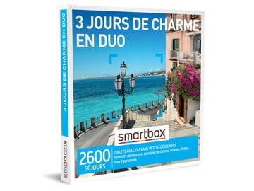 """Vente: e-coffret Smartbox """"3 jours de charme en duo"""" (99,90€)"""