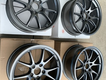 "Selling: Apex FL-5 18""x 8.5"" ET35 rims, flow formed, Anthracite"
