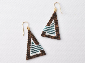 Selling: Outside the Lines - Handwoven seed bead drop earrings