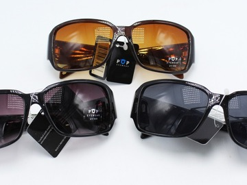 Liquidation/Wholesale Lot: Dozen Womens Fashion Sunglasses by PoP Eyewear P1081 NWT