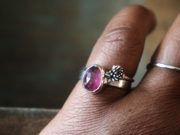 Selling: Pink Tourmaline Botanical Ring