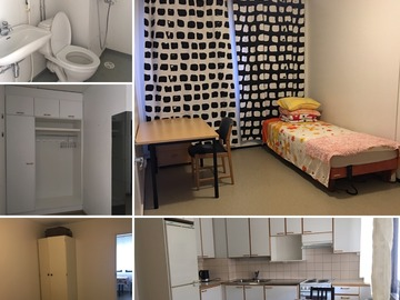 Annetaan vuokralle: One room available (with furniture)