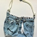Selling with online payment: Denim Bag  with Cheetah Print