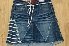 Selling with online payment: Denim Skirt with Cotton Rope, Size 7