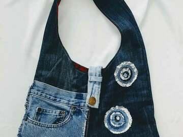 Selling with online payment: Shoulder Bag from Upcycled Denim