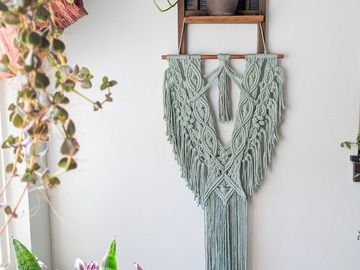 Selling: Sage Green Macrame Wall Hanging