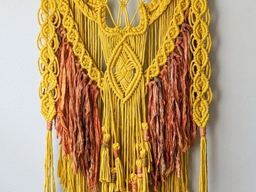 Selling: Macrame Wall Hanging-Yellow and Orange