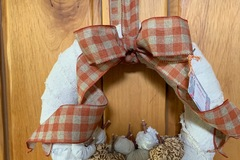 Selling with online payment: Cute pumpkin wreath