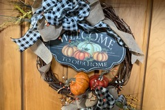 Selling with online payment: Welcome fall wreath
